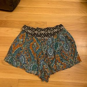 High waisted flowy shorts